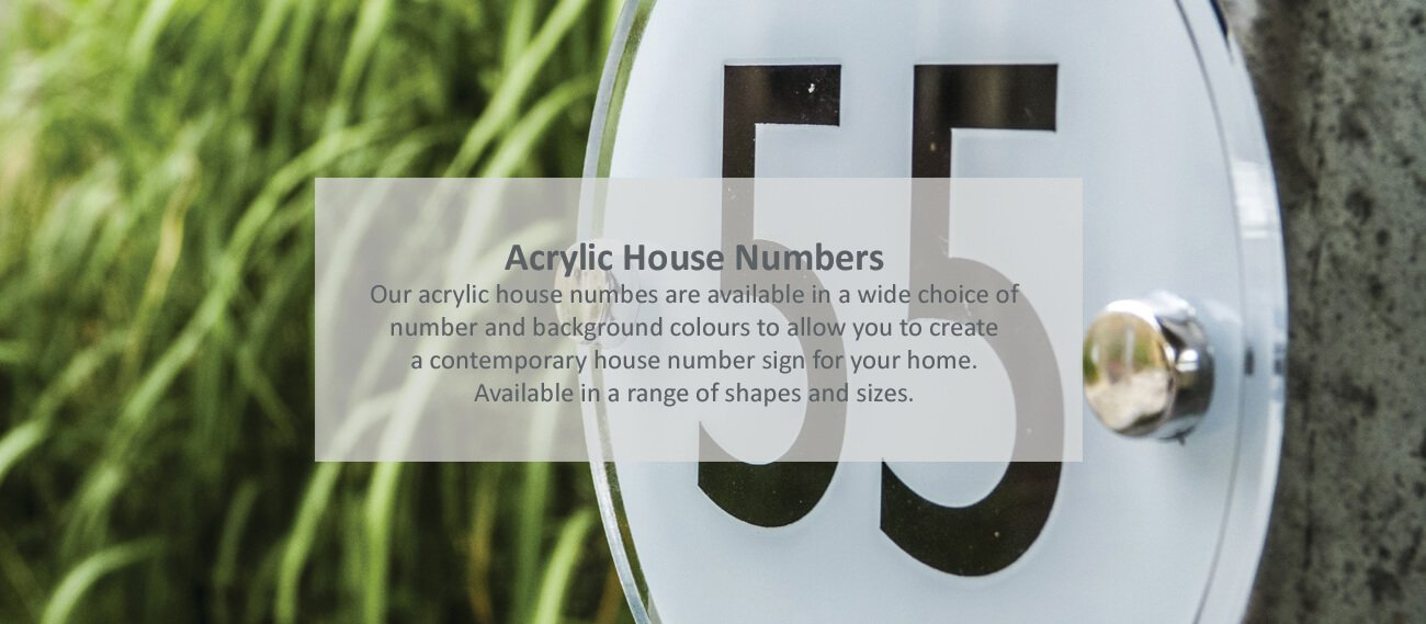 Acrylic house numbers - click to shop