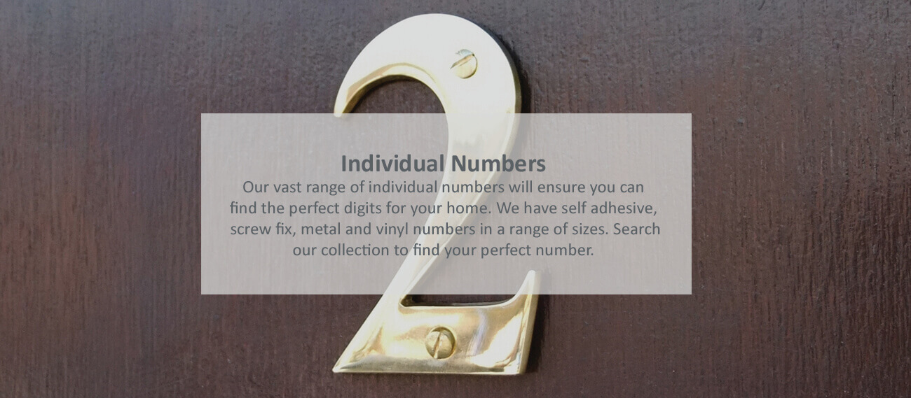 Individual brass house numbers- click to shop