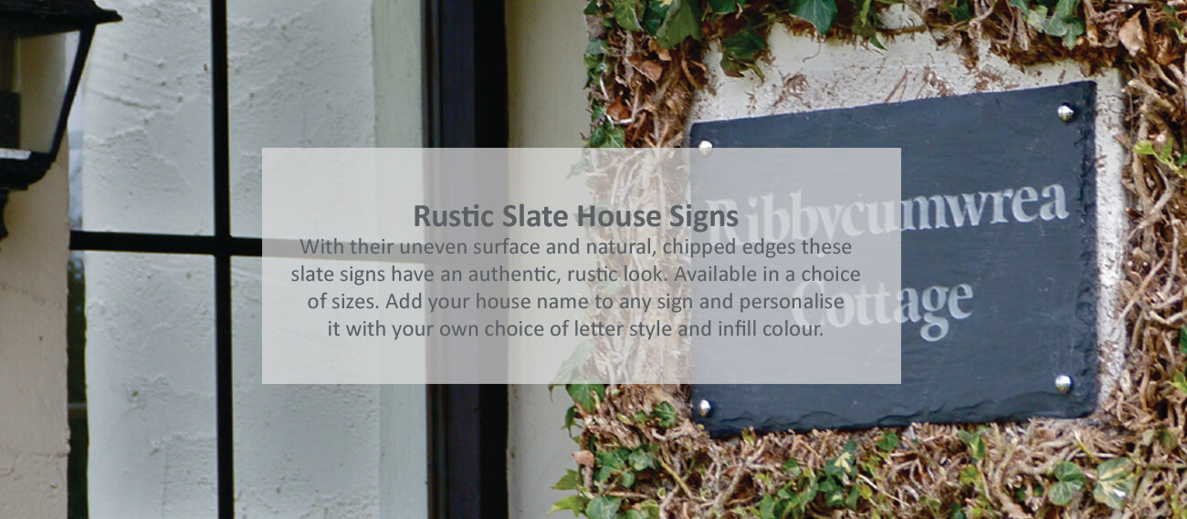Rustic slate house signs - click to shop