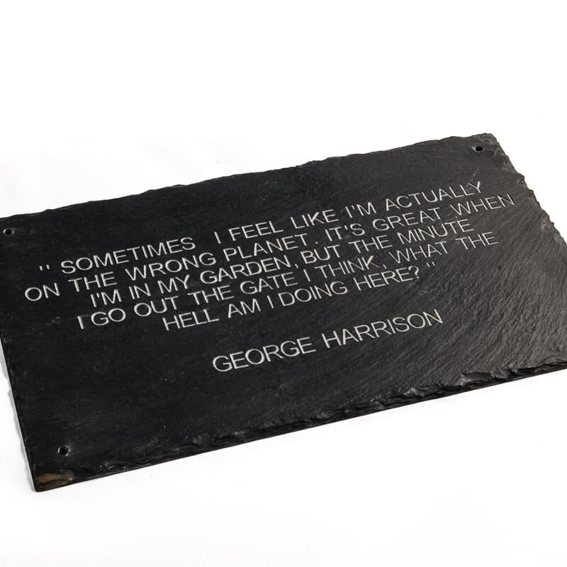George Harrison quote sign