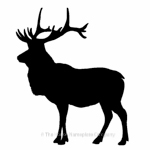 Stag motif for house sign