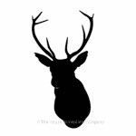 Stag's head image for house signs