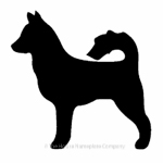 Husky image for house sign