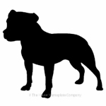 Staffordshire terrier image for house sign