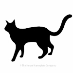 Walking cat image for house signs