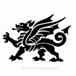 Welsh dragon image for house signs