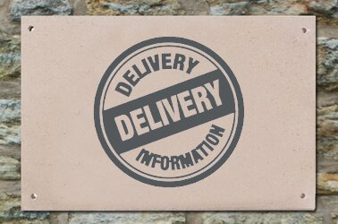 Delivery of your house sign