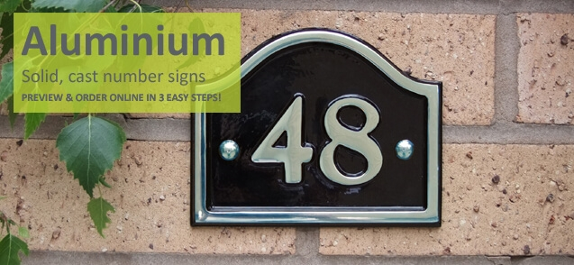 Aluminium house numbers - click to shop