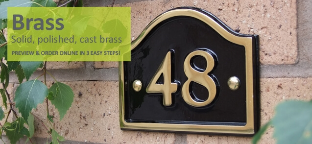 Brass house numbers- click to shop