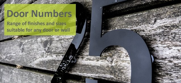 Laser cut house numbers - click to shop