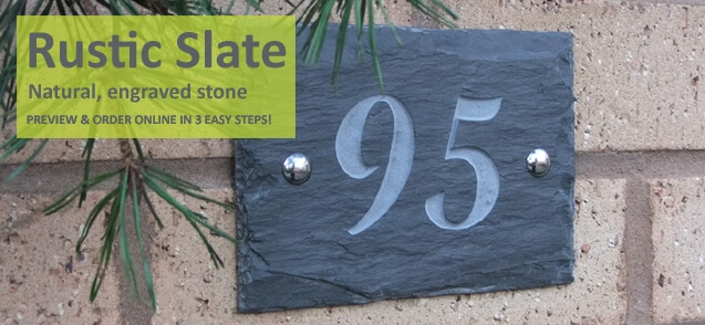 rustic slate house numbers - click to shop