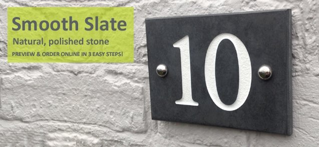 smooth slate house numbers - click to shop