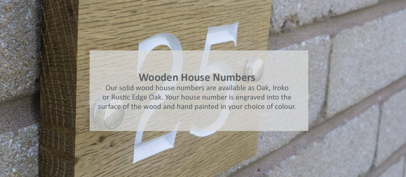 Wooden house numbers - click to shop