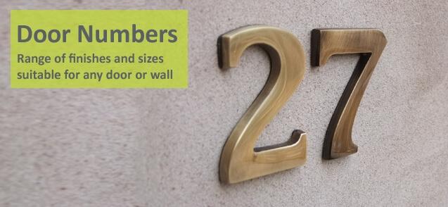 6cm Antique Brass Door Numbers