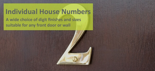15cm Brass house numbers