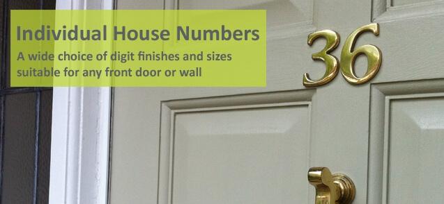 6cm Brass Door Numbers