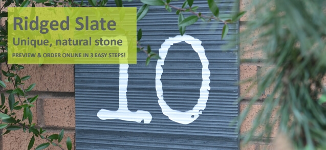 Ridged slate house numbers