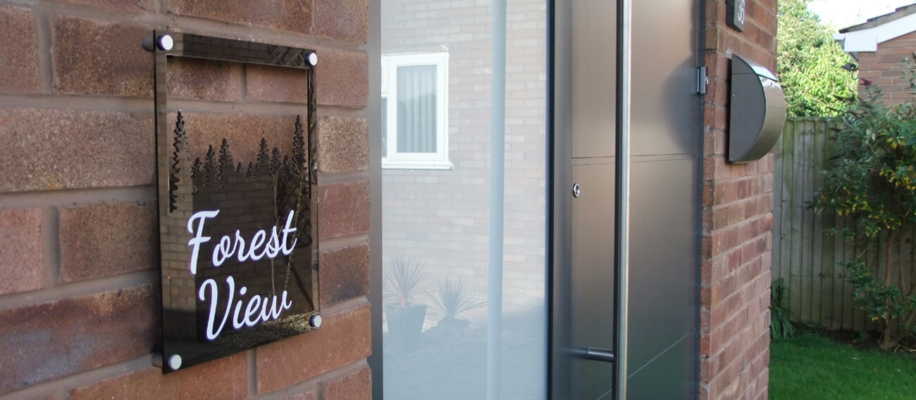 Silhouette Acrylic House Signs