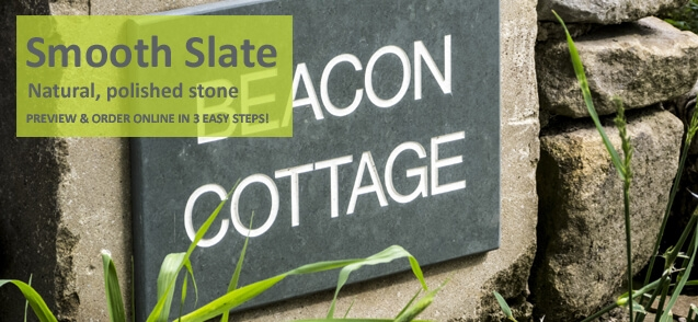 Two line smooth slate house sign