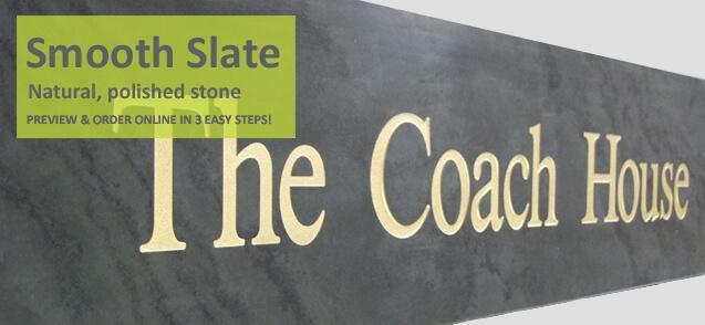 Single line smooth slate house sign
