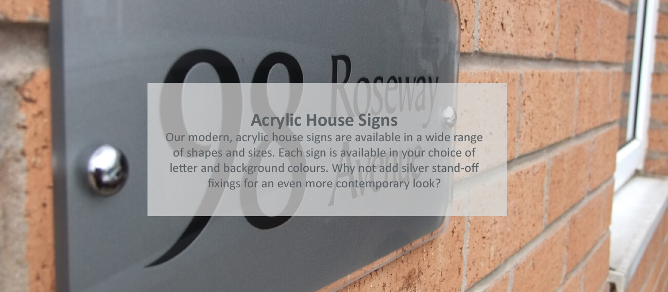 Acrylic House Signs