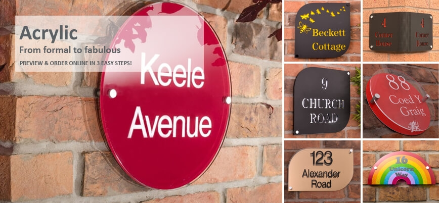 Acrylic House Signs