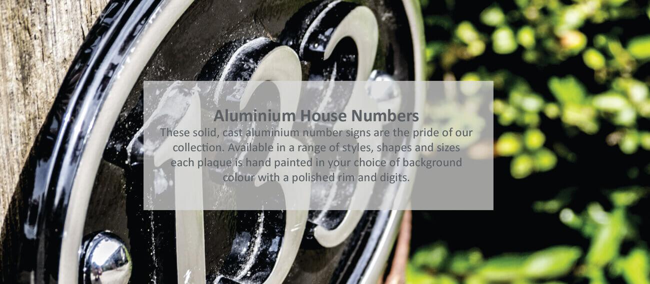Aluminium House Numbers