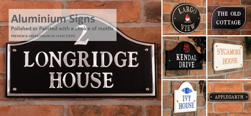 Aluminium House Signs