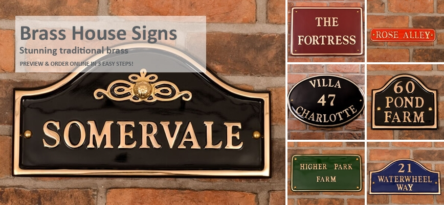 Brass House Signs