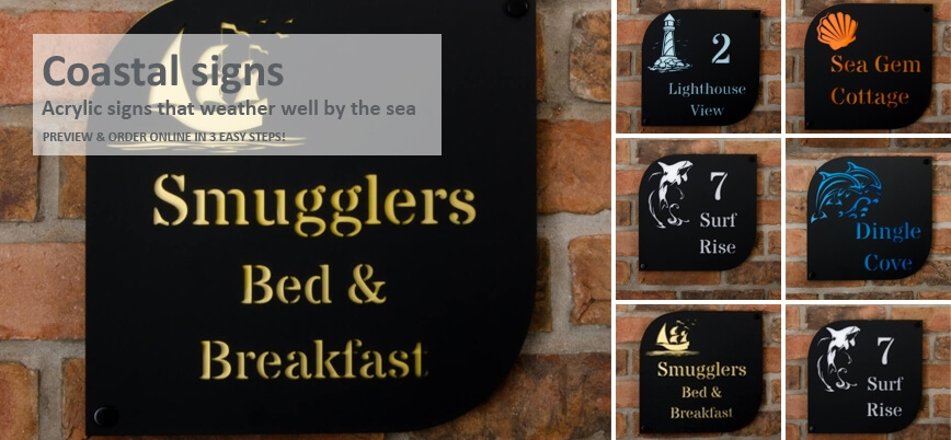 Coastal Signs For Homes By The Sea