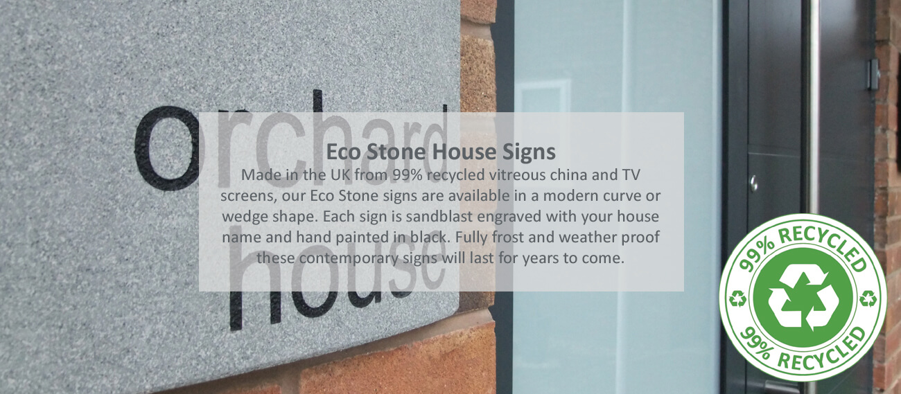Eco Friendly House Signs