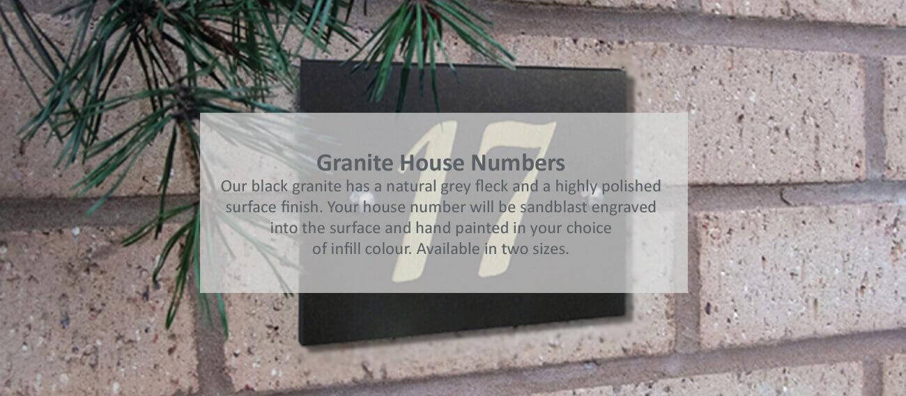 Granite House Numbers
