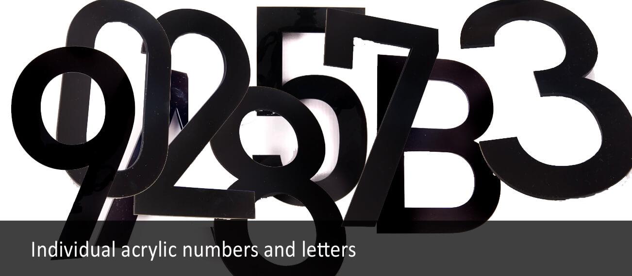 Individual Acrylic Numbers