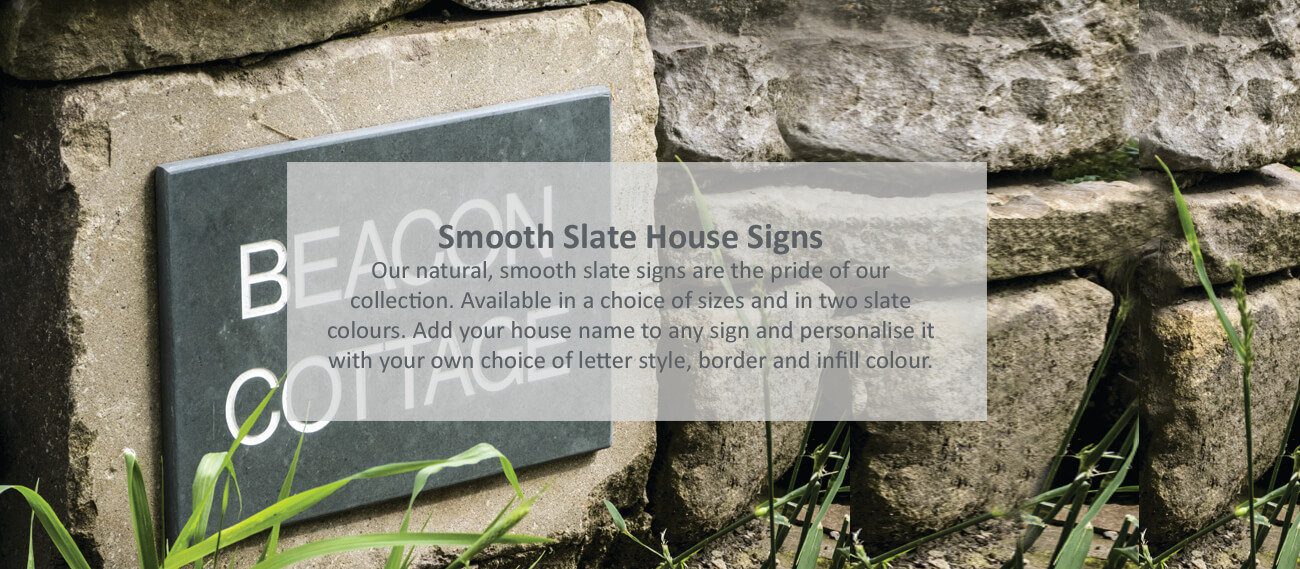 Smooth Slate House Signs