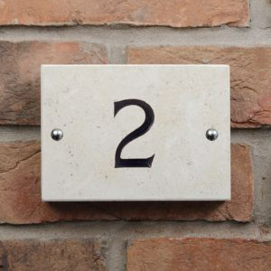 1 digit Limestone House Number