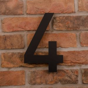 25.5cm Tall Laser Cut Acrylic House Number 4
