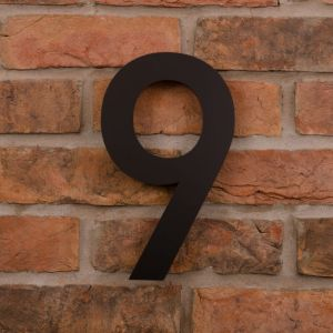 25.5cm Tall Laser Cut Acrylic House Number 9