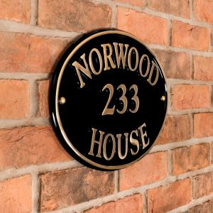 Brass Oval House Sign 40.5 x 28cm Norwood House