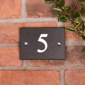 1 Digit Granite House Number
