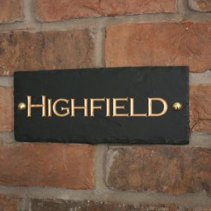 Rustic Slate House Sign - 1 line 25.5 x 10cm - private sign
