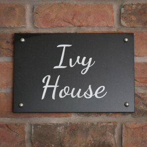 Granite 2 line House Sign 30.5 x 20cm
