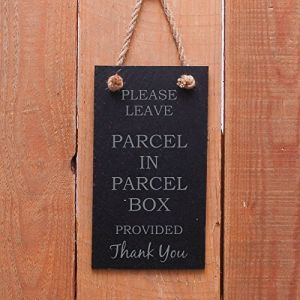 Slate hanging door sign
