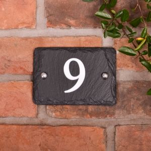 House numbers in rustic slate with 1 digit (WRSN1)
