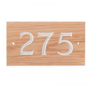 3 Digit Solid Wood House Number