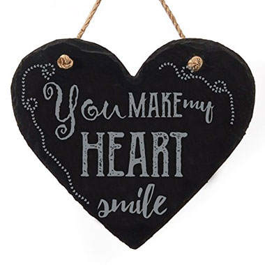Heart-shaped hanging signs