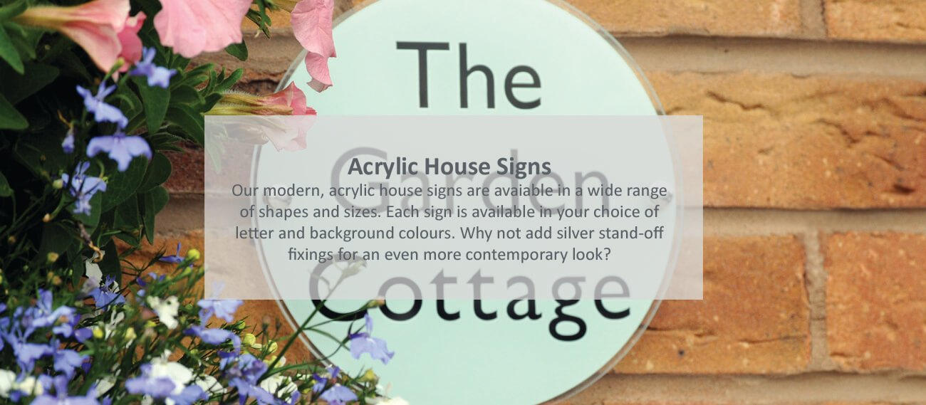 Acrylic house signs - click to shop