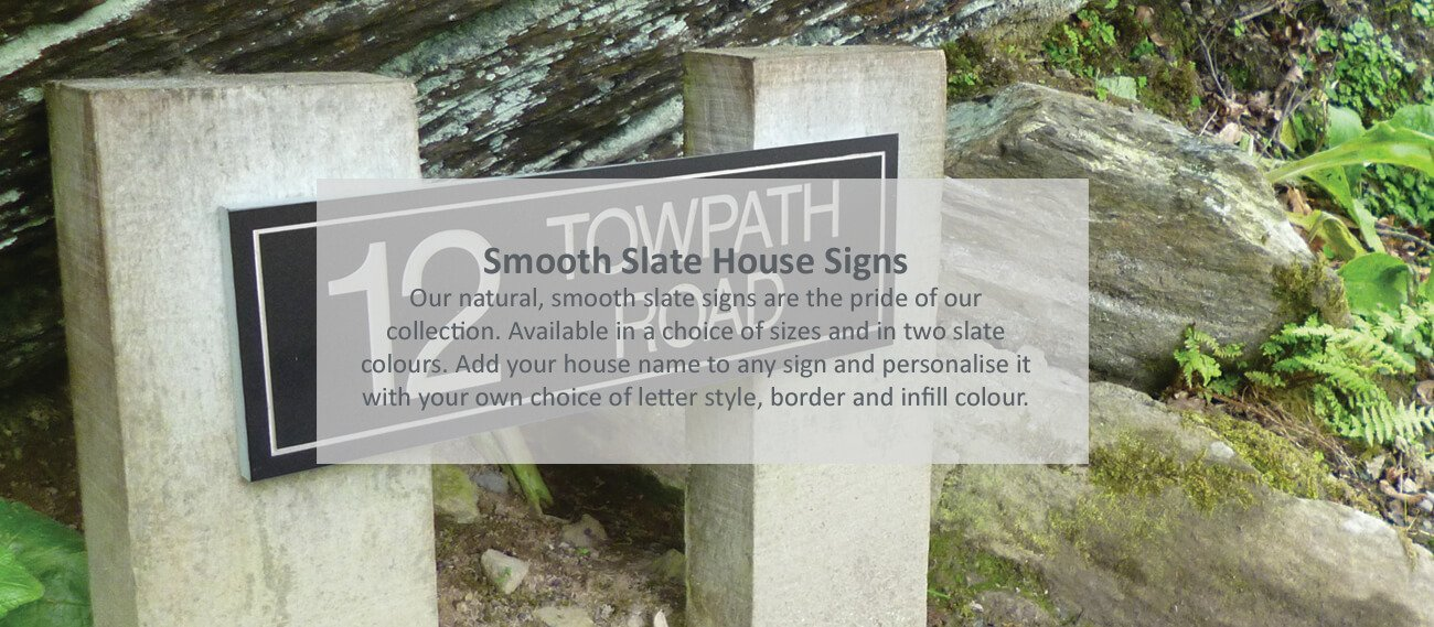 Slate house signs - click to shop