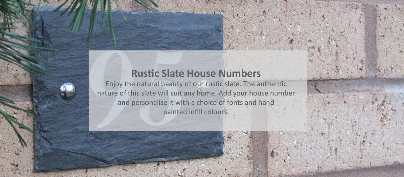 Smooth slate house signs - click to shop