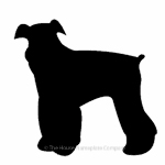 Airedale dog image for house sign