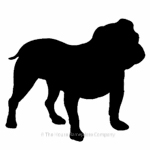 Bulldog image for house sign